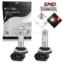2pcs High Power 881 862 889 6000K 50W White 2323-SMD LED Fog Driving Light Bulbs
