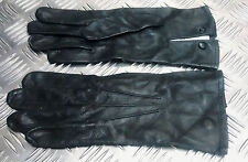 Genuine British Military Officers Black or Brown Leather 3 Dart Parade Gloves