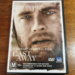 Cast Away DVD Tom Hanks  R4 LIKE NEW FREE POST
