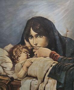 Trauernde weinende Mutter mit Kind