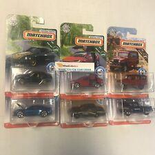 Complete 6 Car Set Case C * 2019 Matchbox Moving Parts * Case C * Telsa C10, ZX
