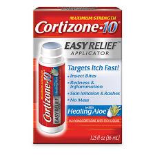 Cortizone•10 MAXIMUM STRENGTH EASY ITCH RELIEF APPLICATOR Healing Aloe NO MESS