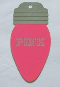PINK Victoria's Secret Gift Card - Die Cut Christmas Light Bulb - No Value