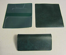 1 NEW GREEN MARBLE VINYL CHECKBOOK COVER WITH DUPLICATE FLAP CHECK BOOK COVERS