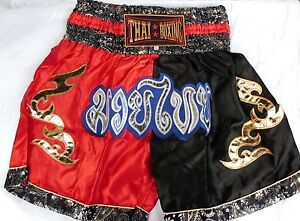 Muay Thai Boxing-Shorts Satin Thailand Kampfsport Hose Boxen ca. L/XL siehe Maße