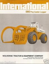 Equipment Brochure - International - IH 560 - Pay Loader Logger - 1973 (EB870)