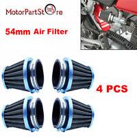 4x 54mm Filtre à Air Cornet Moto Pour Honda CB900 CB1000 Kawasaki KZ1000 Suzuki