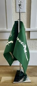 Hard to Find Vintage SAUDIA SAUDI ARABIA AIRLINES Desk Flags with Stand NR