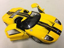 "2006 Ford GT, 5"" Die Cast 1:36 Pull Back Action Kinsmart Toy Boys Girls Yellow"