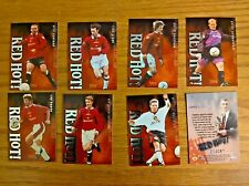 Futera football cards Manchester United Red Hot! insert chase set silver Beckham