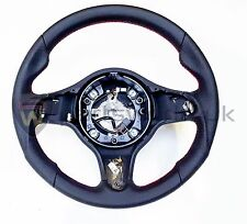 Alfa Romeo 159 Brera & Spider Auto Black  Red Leather Steering Wheel New Genuine