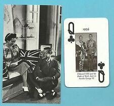 Edward VIII and the Duke of York King George VI Mrs Wallis Simpson iFab Card LOT