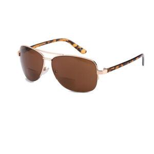 Vintage Bifocal Reading Glasses Black Brown Lens Sunglasses Men Reader +1.0~+3.5