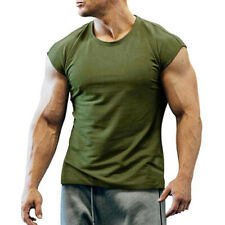 Men's Vest Gym Tank Top Fitness Workout Muscle Sleeveless Singlet T-Shirt Tee
