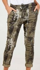 Italian Ladies Abstract Print Magic Trousers Pants Stretchy