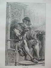 ANTIQUE PRINT C1910 LOUIS XI KING OF FRANCE PORTRAIT HISTORY FRENCH THE PRUDENT