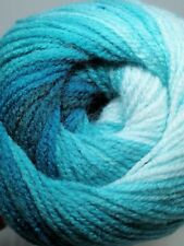 Teal Blue Swirl Gradient Batik Yarn 100g wool crochet knitting DK acrylic