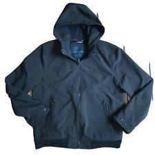 Tommy Hilfiger Mens Jacket Black Size Large L Full-Zip...