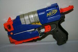 Nintendo Wii Nerf Switch Shot EX-3 EX Controller Foam Dart Blaster Gun Blue RARE