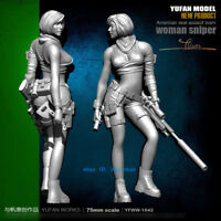 1/24 Woman Sniper Unpainted Resin Model Kit YuFan Model American Seal Assault T