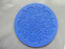 Silicone Mould- 10cm Lace Flower Floral Round-Sugar Paste/ Icing Embosser Mat
