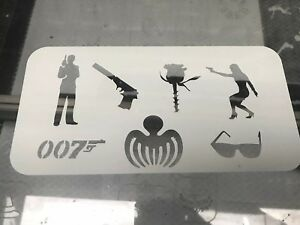 007 James Bond Inspired  Stencil For Face Painting