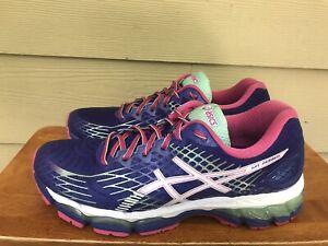 Asics Gel-Nimbus 17 Women's Athletic Running Shoes Purple Pink T557N Size 10