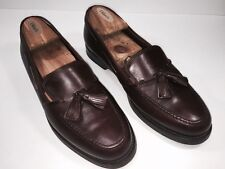 Authentic COACH Mens Mahagony Penny Loafers Shoes Tassels Size 8.5 M Vintage