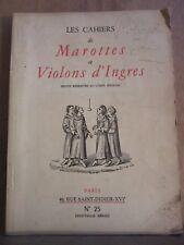 Les Cahiers de Marottes et Violons d'Ingres revue réservée au corps médical N°25
