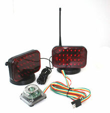 Wireless Led Tow Light Kit Magnetic Cordless Waterproof 4 Truck Boat Haul Towing