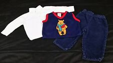Disney Store 3 Piece 18 Month Boy's Winnie the Pooh Outfit