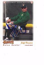 2010 Boise Hawks Jeff Fassero Chicago Cubs Authentic Autograph COA