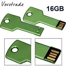 USB 2.0 16GB Flash Drive Memory Stick Storage Pen Disk Digital U Disk GREEN