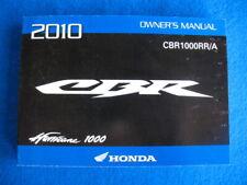 Honda 2010 CBR1000RR/A BRAND NEW Original Factory Owners Manual P798