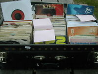 "JOB LOT 40 X 7"" SINGLES - 60's 70's 80's- GRADES G-VG+ - ALL BAGGED - POST FREE"