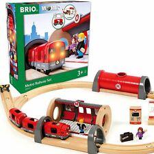 BRIO 33513 Metro Railway Wooden Train Set