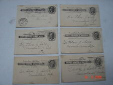 6 Postal Cards 1902 Dr. Thomas J. Solt, Mountain Top, Pa - Jefferson One Cent