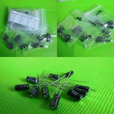 New 9 value 60pcs 25V DIP Electrolytic Capacitor Assortment Kit 4.7uF ~2200uF