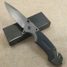 9'' DAMASCUS TACTICAL RESCUE Assisted Open Folding Blade Pocket Knife TAC-FORCE