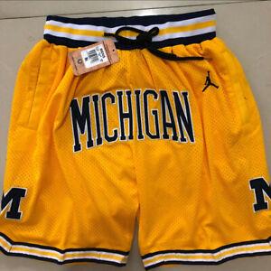 Michigan Wolverines Basketball Shorts Men's Pants NWT Stitched