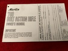Factory Original Marlin Model 780 Rifles Instruction Owners Manual Gun Parts