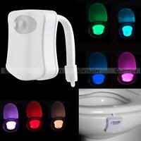 8 Color LED Night Light Body Motion Sensor Automatic Toilet Seat Bowl Bathroom