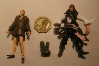 PIRATES OF THE CARIBBEAN WORLD'S END ELIZABETH SWANN AND JACK SPARROW FIGURES