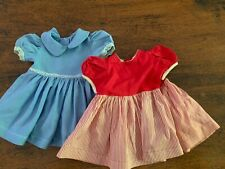 "Vintage 1950'S Handmade (2) Dresses Doll Clothes For 22"" Doll"