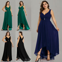 Ever-Pretty US Plus Long Bridesmaid Dresses Sleeveless V-neck Evening Gown 09983