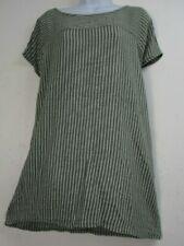 T-shirt, maglie e camicie da donna verde a fantasia righe in cotone