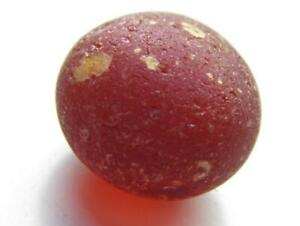 1 Lg Amberina Red Gold Bubble 0.31oz RARE Genuine Seaham English Sea Glass
