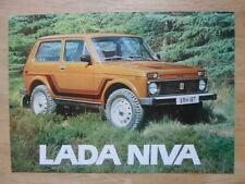 Lada Niva ORIG UK 1978 Marketing sales brochure