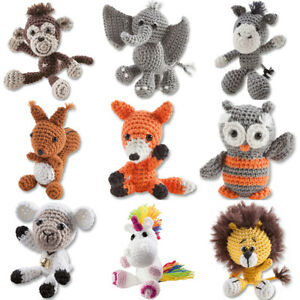 Kit to Make One Mini Crochet Animal For Adults & Older Kids | Choie of Designs