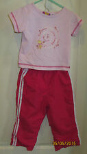 Baby Toddler 3T Disney Winnie The Pooh Hugs & Kisses Outfit Ss Shirt & Pants